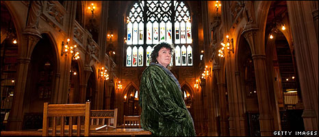 Carol Ann Duffy in John Rylands Library in Manchester