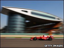 Kimi Raikkonen of Finland and Ferrari drives during qualifying for the Chinese Formula One Grand Prix
