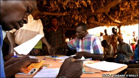 A civil registration day held at a village in Burkina Faso