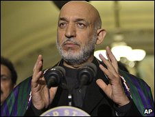 Hamid Karzai in Washington (7.5.2009)