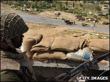 Pakistani soldier in Buner, Pakistan, 8 May 2009