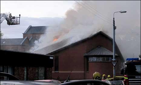 Langside Parish Church fire