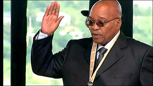 Jacob Zuma takes the presidential oath