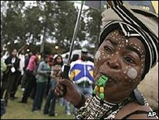 Jacob Zuma supporter at Union Buildings in Pretoria on 9/5/09