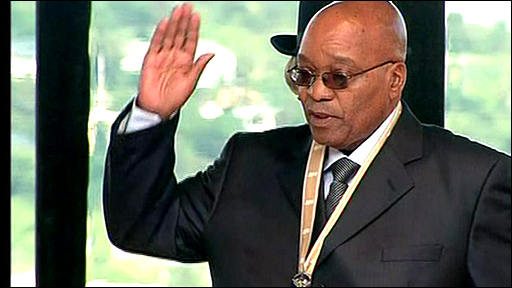 Jacob Zuma is sworn in as president