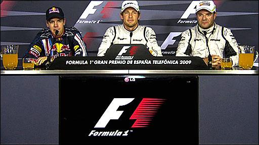 Sebastian Vettel, Jenson Button, Rubens Barrichello