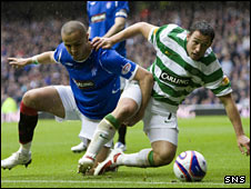 Madjid Bougherra tussles with Scott McDonald