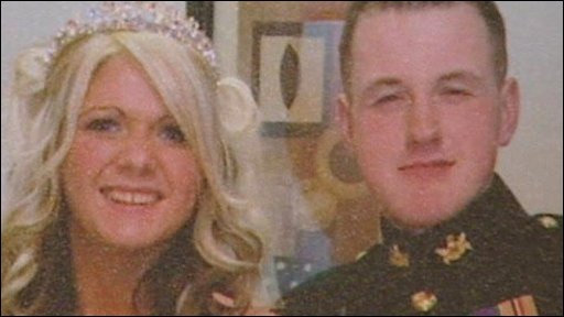 Corporal Binnie and his widow Amanda Binnie
