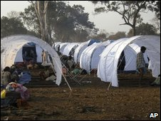 Displaced Tamils at a camp