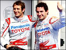 Toyota drivers Jarno Trulli and Timo Glock