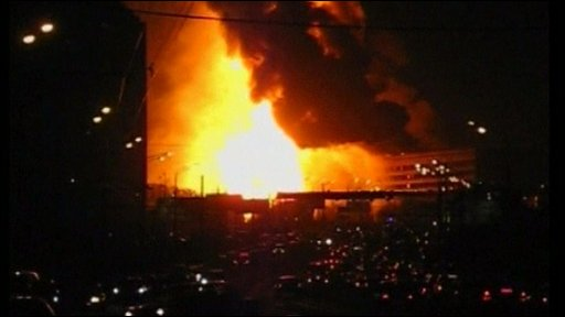 The fire in Moscow