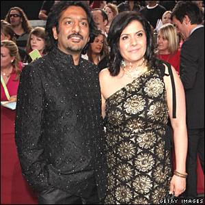 Nitin Ganatra and Nina Wadia
