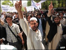 Students protest in Kabul