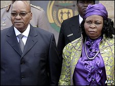 Jacob Zuma and Sizakele Khumalo