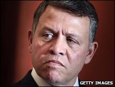 File photo of King Abdullah of Jordan