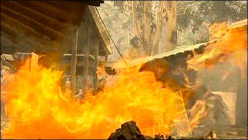 Australia bush fires in February 2009