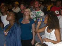 Crowd at St Lucia jazz festival