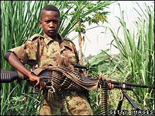 Child soldier in Congo