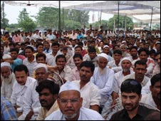A rally addressed by former Indian cricket star Mohammad Azharuddin