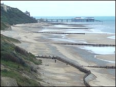 The view of Cromer Beach