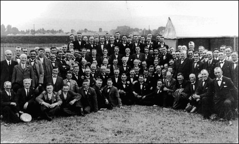 Tredegar Orpheus Male Voice Choir in the 1930s