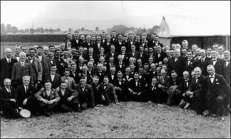 Tredegar Orpheus Male Voice Choir in the 1930s