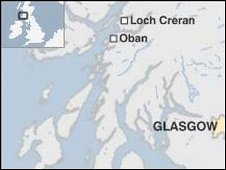 Location of Loch Creran