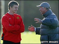 Ole Gunnar Solskjaer and Sir Alex Ferguson