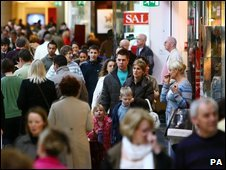 Shoppers at the Bluewater shopping centre