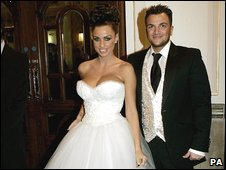 Katie Price and Peter Andre at the Royal Variety Performance