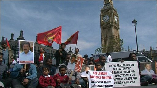 Tamil protest