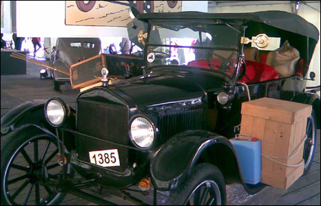 Model T Ford on show in Namur