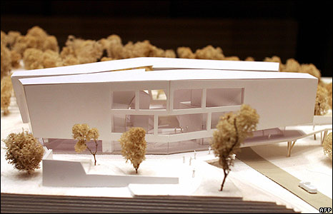 Architect's model of Herge Museum