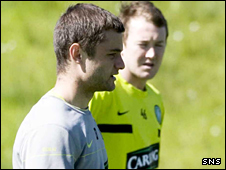 Shaun Maloney took McGeady's place on the wing for Celtic against Rangers