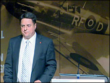Nick Griffin at the election launch