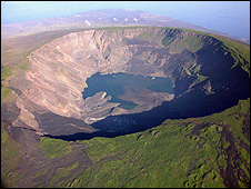 Volcanic crater on Femandina, Galapagos (Getty Images)