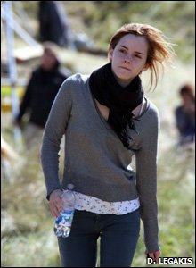 Emma Watson at Freshwater West