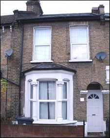 David Beckham's childhood home in Leytonstone