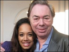 Jade Ewen and Sir Andrew Lloyd-Webber