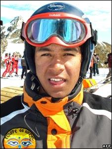 Nepalese skier Uttam Rayamajhi