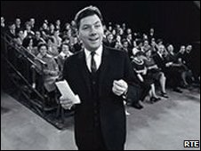 Gay Byrne on set in 1966