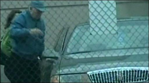 Still from surveillance video of John Demjanjuk