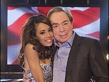 Jade Ewen and Andrew Lloyd Webber