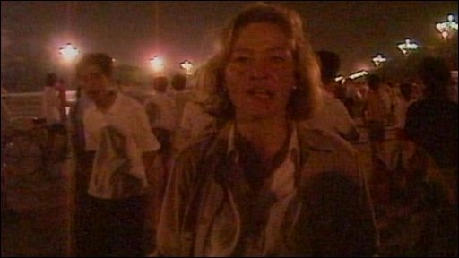 Kate Adie in Tiananmen Square
