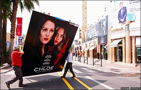 Film advert outside the Palais des Festivals