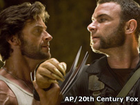 Hugh Jackman as Wolverine and Liev Schreiber as Victor Creed