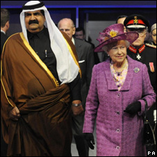 The Amir of Qatar and the Queen