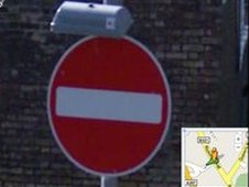 Stop sign in Street View