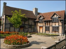 William Shakespeare's birthplace in Henley Street, Stratford-upon-Avon, Warwickshire