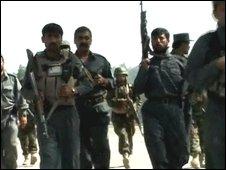 Afghan troops in Khost